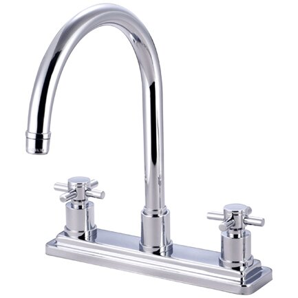 South Beach Double Handle Kitchen Faucet by Elements of Design