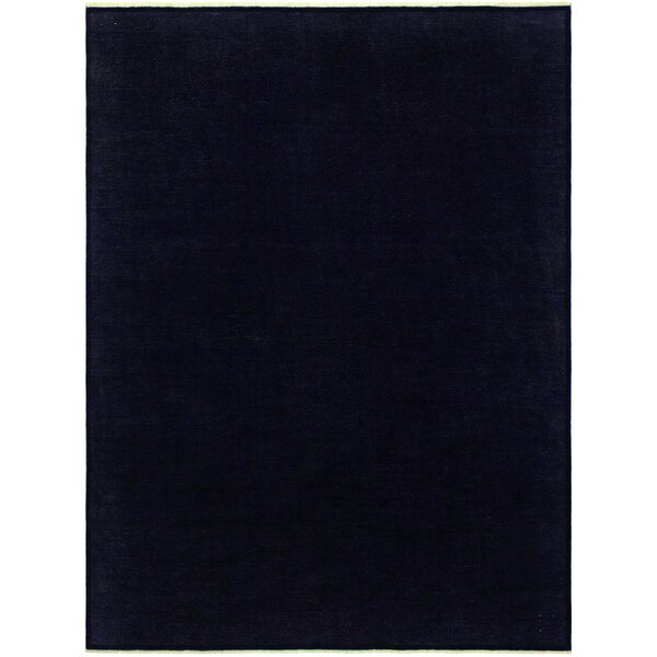 One-of-a-Kind Karr Over Dyed Michelin Hand-Knotted Wool Blue Area Rug by Bloomsbury Market