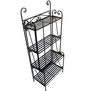 Folding Piper Iron Baker's Rack by Pangaea Home and Garden