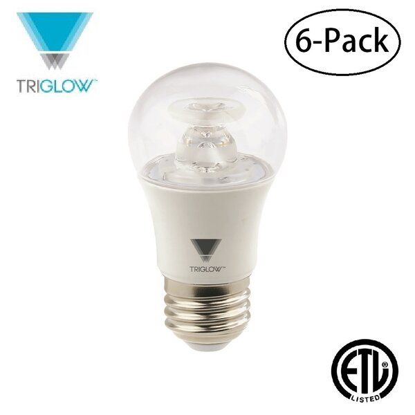 40W Equivalent E26 LED Standard Light Bulb (Set of 6) by TriGlow