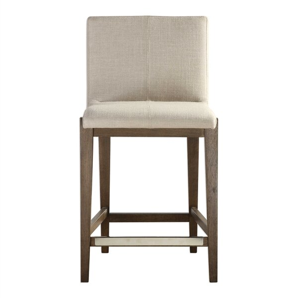 Valerie Linen 26 Bar Stool by Foundry Select
