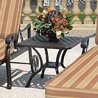 Caswell Metal Side Table by Fleur De Lis Living