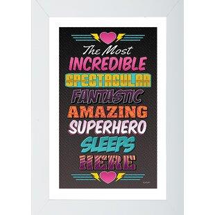 Superbe Superhero 1 Framed Wall Art