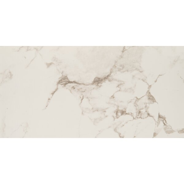 Statuario 12 x 24 Porcelain Field Tile in White by MSI