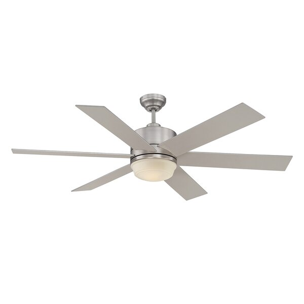 60 Ayleen 6-Blade Ceiling Fan with Remote by Longs