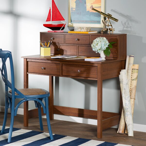Strickland Secretary Desk with Hutch by Beachcrest Home