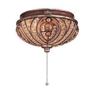 Reviews Universal 2-Light Bowl Ceiling Fan Light Kit By Minka Aire