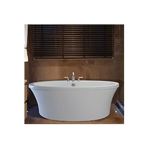freestanding tub with faucet deck. Center Drain Freestanding 66  x 36 75 Soaking Tub with Deck for Faucet Biscuit Bathtubs You ll Love Wayfair