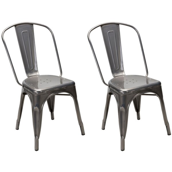 Dunamoy Metal Dining Chair (Set of 2) by Gracie Oaks