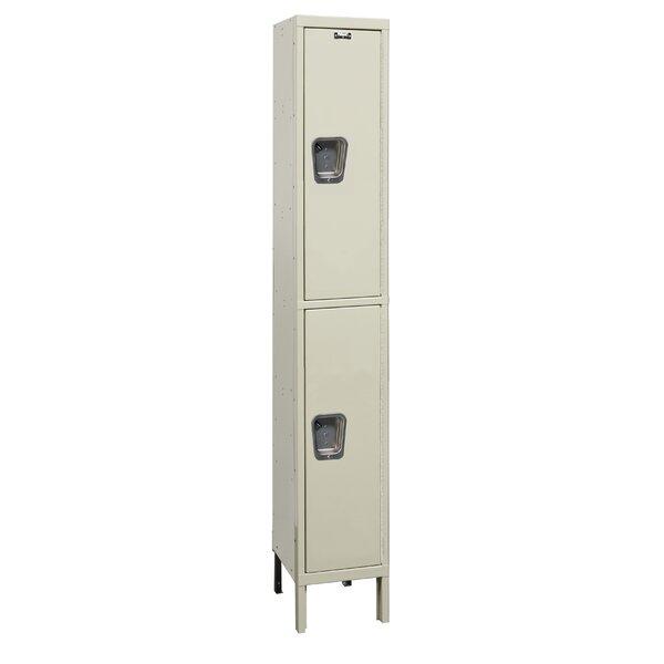 Maintenance-Free 2 Tier 1 Wide School Locker by Hallowell