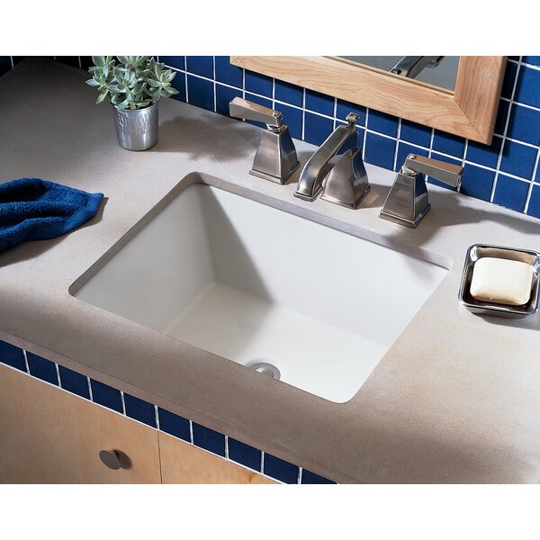 Boulevard Ceramic Rectangular Undermount Bathroom Sink with Overflow by American Standard