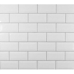 Clic 3 X 6 Beveled Ceramic Subway Tile In White