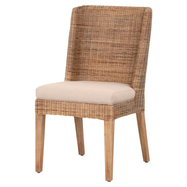 Cuyler Upholstered Side Chair in Stone Wash (Set of 2) by Rosecliff Heights Rosecliff Heights
