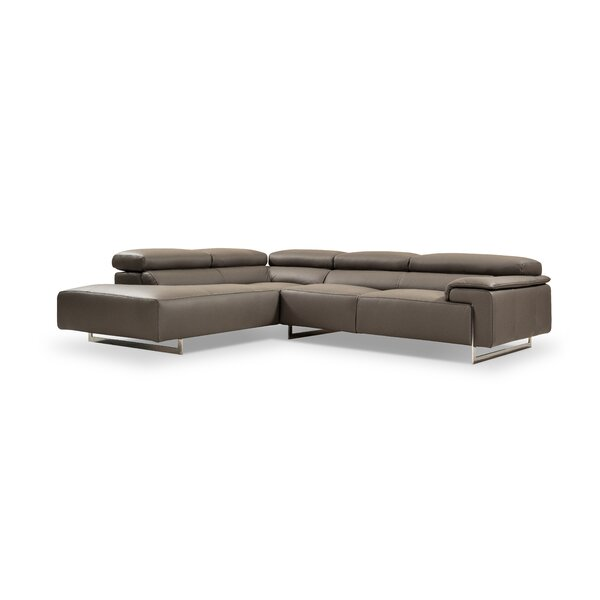 Boddie Leather Sectional by Orren Ellis
