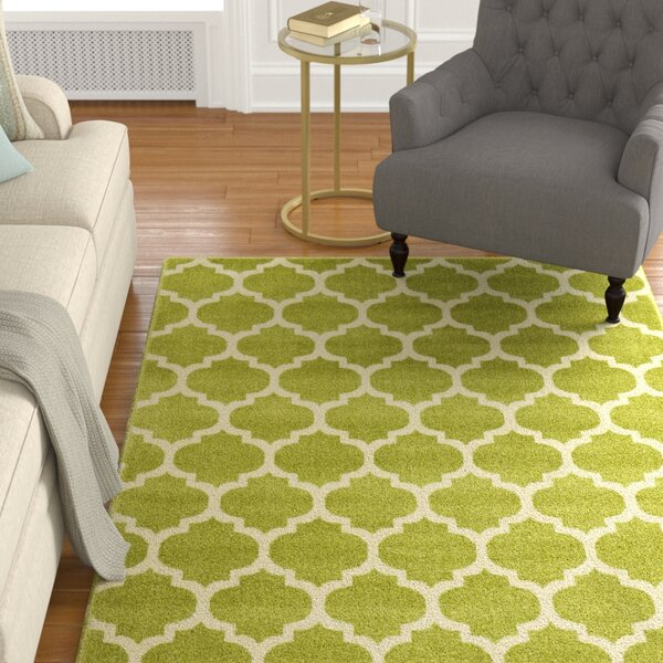 Moore Light Green Area Rug by Charlton Home