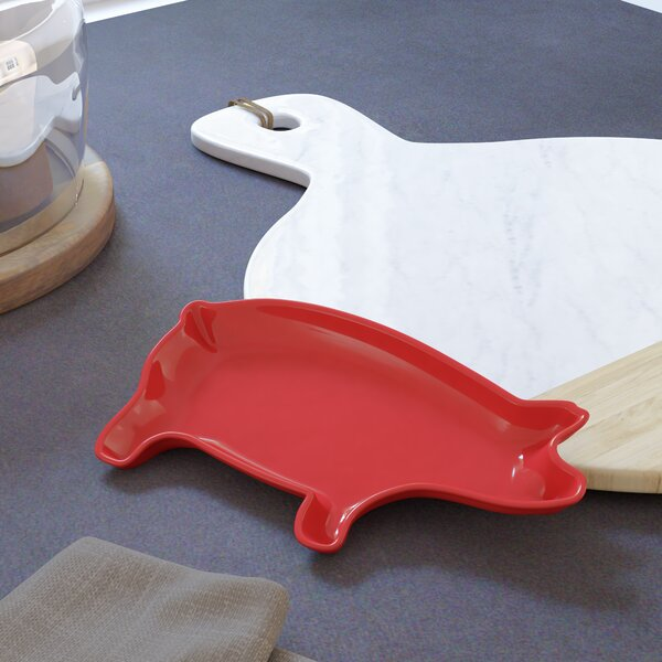 Marcellina Pig Platter by Laurel Foundry Modern Farmhouse