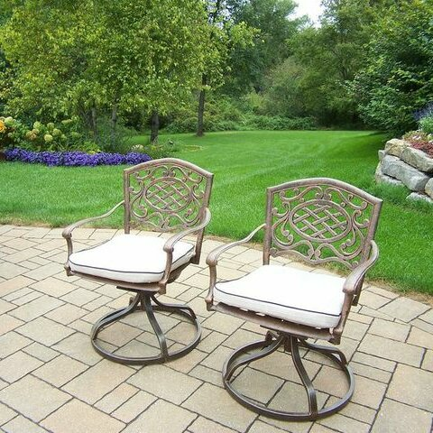 Mississippi Patio Chair with Cushion (Set of 2) by Oakland Living