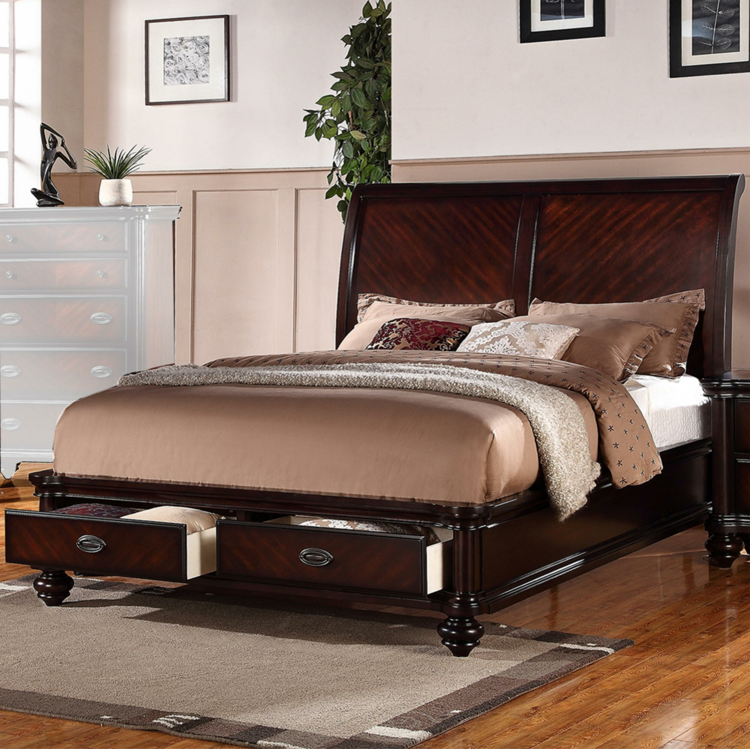 - Darby Home Co Landyn Immaculate Wooden Sleigh Bed Wayfair