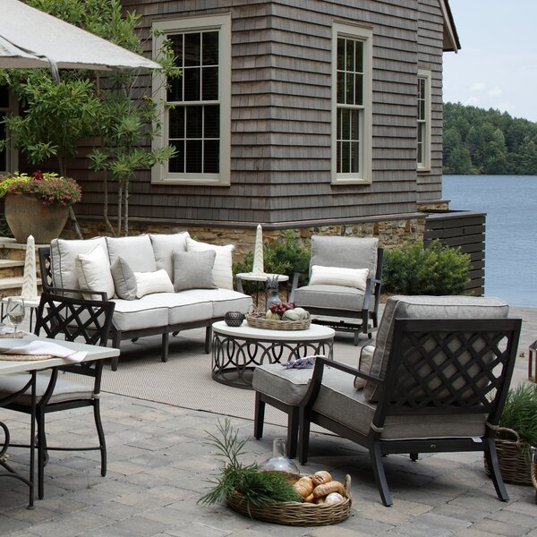 Lattice Deep Seating Group with Cushions by Summer Classics