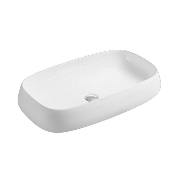 Above Ceramic Oval Vessel Bathroom Sink by Hometure