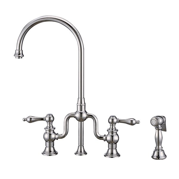 Twisthaus Plus Bridge Faucet with Side Spray