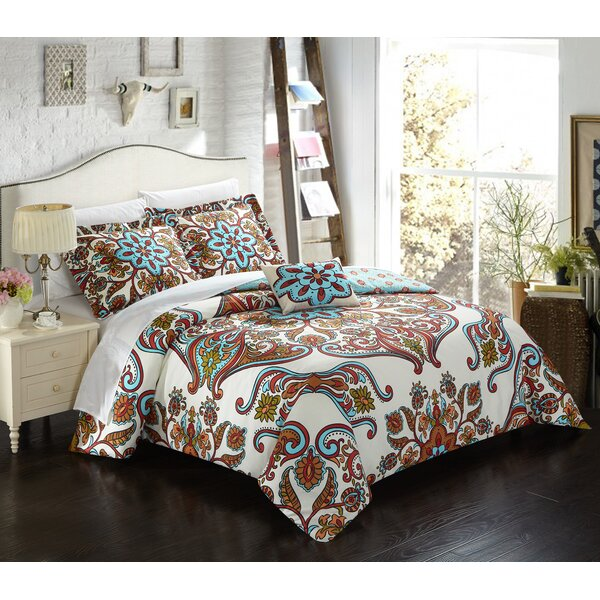 Charlesville Polyester 4 Piece Reversible Duvet Cover Set by Latitude Run