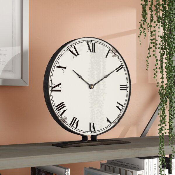 Metal Tabletop Clock by Williston Forge