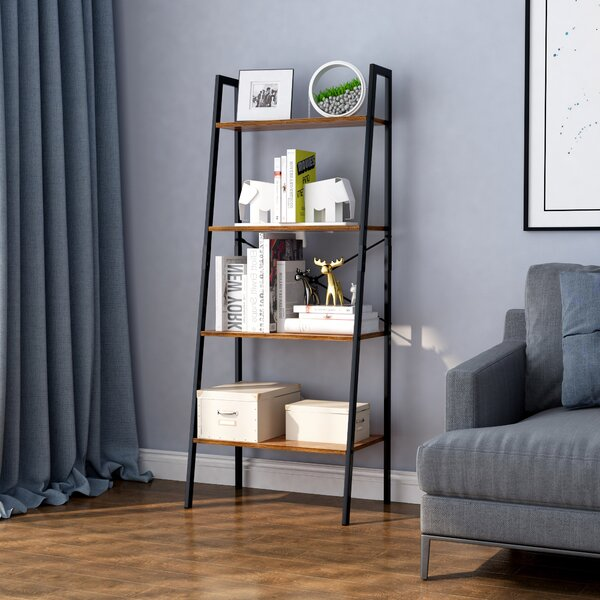 Sizemore 4-Tier Etagere Bookcase by Gracie Oaks