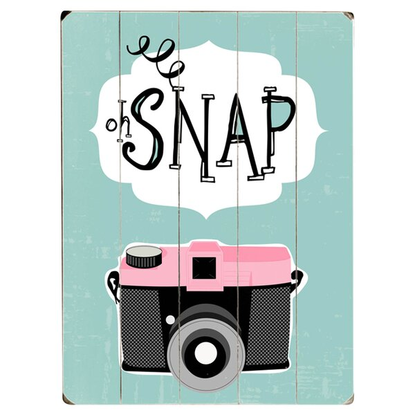 Oh Snap Graphic Art Print Multi-Piece Image on Wood by Artehouse LLC