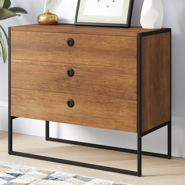 Ibrahim 3 Drawer Accent Chest by Langley Street
