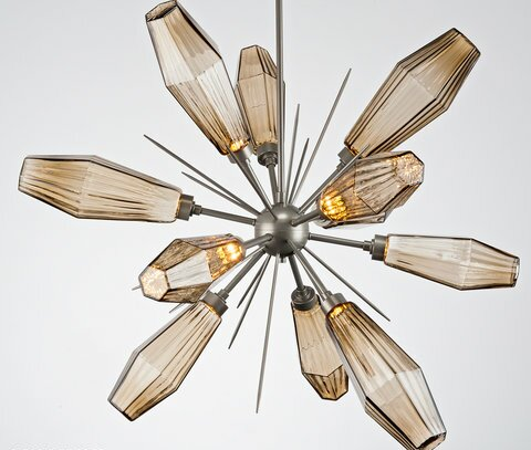 Aalto 12 - Light Sputnik Sphere LED Chandelier By Hammerton Studio