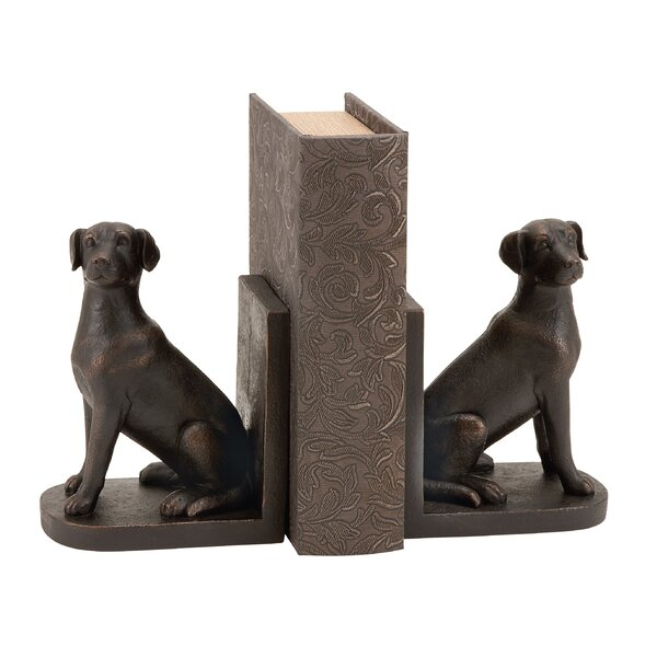 Dog Bookends (Set of 2) by Three Posts