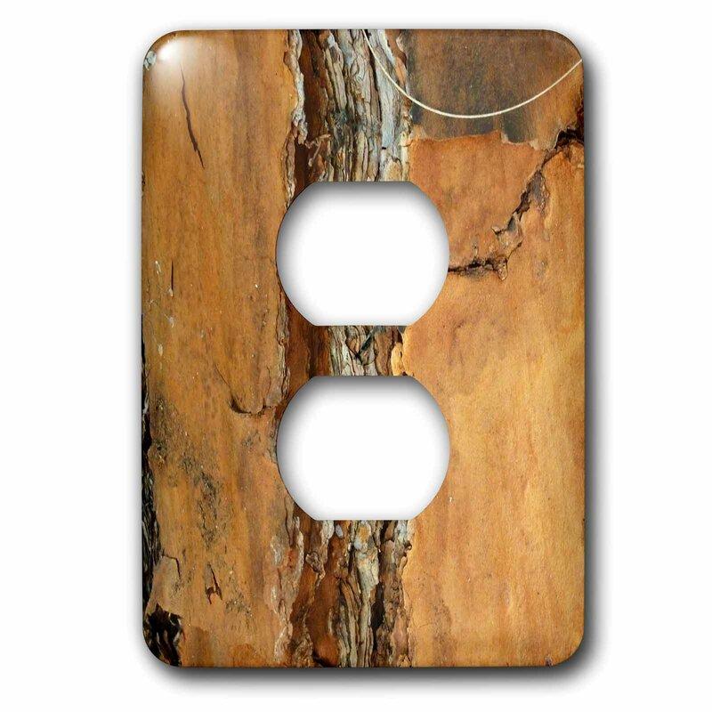 3drose Old Bark 1 Gang Duplex Outlet Wall Plate Wayfair
