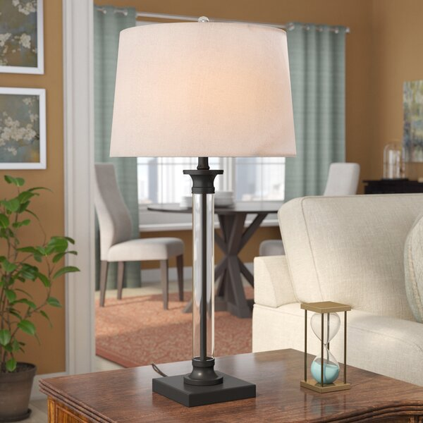 Exeter Glass and Metal 30 Table Lamp (Set of 2) by Canora Grey