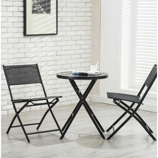 Bermuda 3 Piece Patio Bistro Set by Bay Isle Home