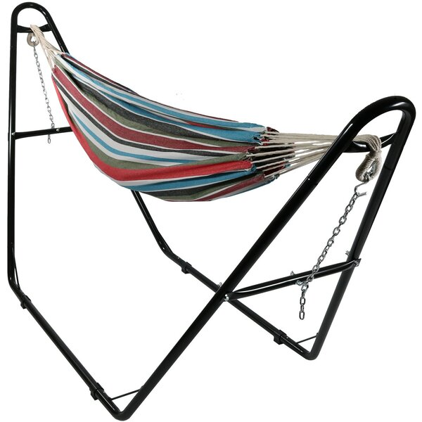 Poirier Jumbo Double Spreader Bar Hammock with Stand by Bay Isle Home
