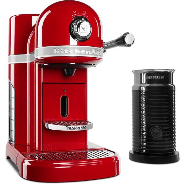 Nespresso Espresso Maker and Aeroccino Milk Frother - KES0504 by KitchenAid