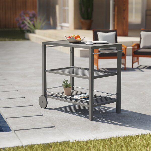 Volpe Outdoor Bar Serving Cart by August Grove