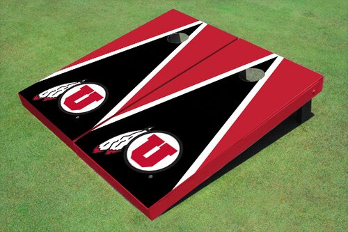 NCAA 10 Piece Matching Triangle Cornhole Board Set by All American Tailgate
