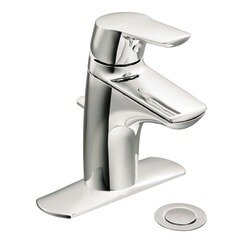 Method Single Hole Bathroom Faucet with Drain Assembly by Moen