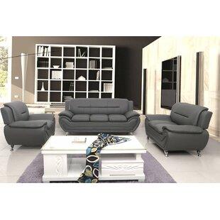 Nataly Faux Leather Living Room Set by Orren Ellis