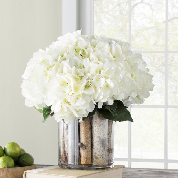 Hydrangea Birch in Flower Pot by Laurel Foundry Modern Farmhouse