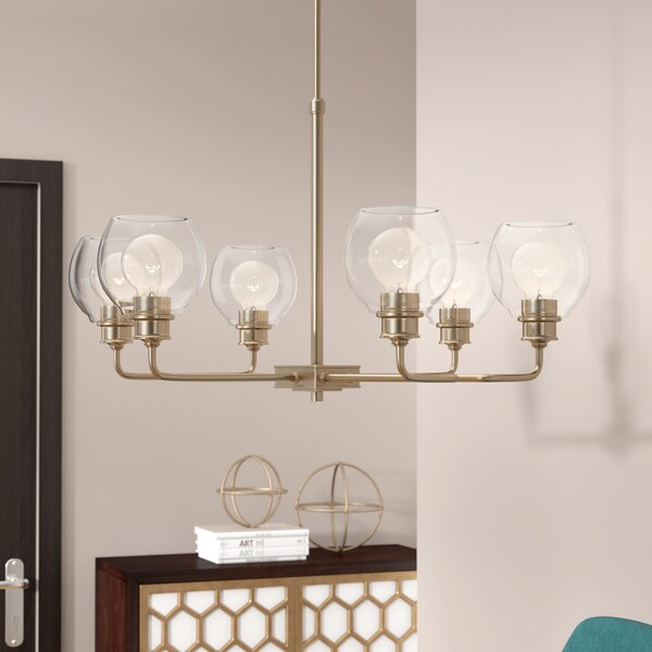 Maria 6-Light Shaded Chandelier by Langley Street