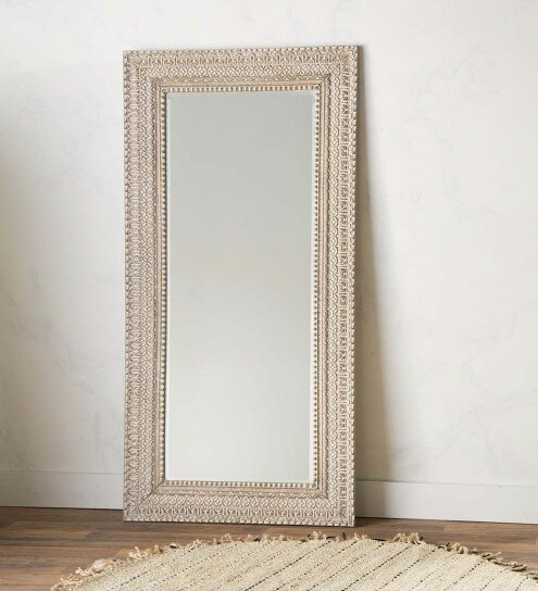 Jakob Artisan Carved Framed Full Length Mirror by Bloomsbury Market