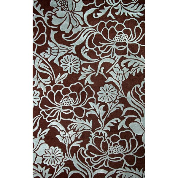 June Dresden Chocolate/Aqua Area Rug by Latitude Run