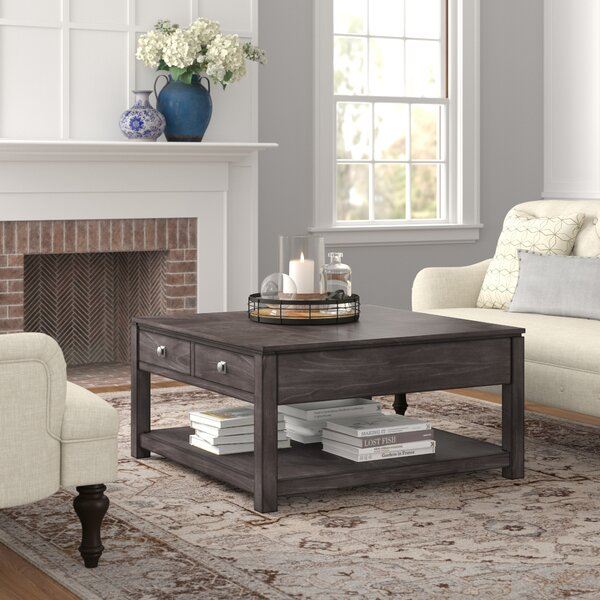 Woodville Coffee Table With Storage By Three Posts