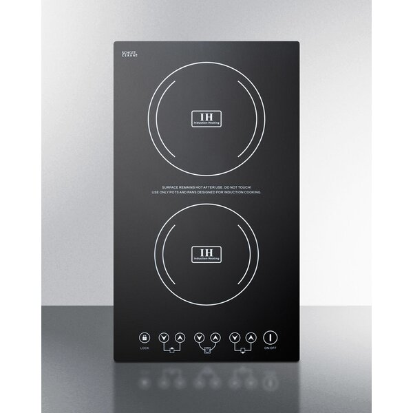 Summit Built-In 12 Induction Cooktop with 2 Burner