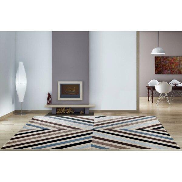 Bennet Blue/Brown Indoor/Outdoor Area Rug by Latitude Run