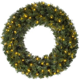 Majestic 100cm Lighted Wreath By The Seasonal Aisle