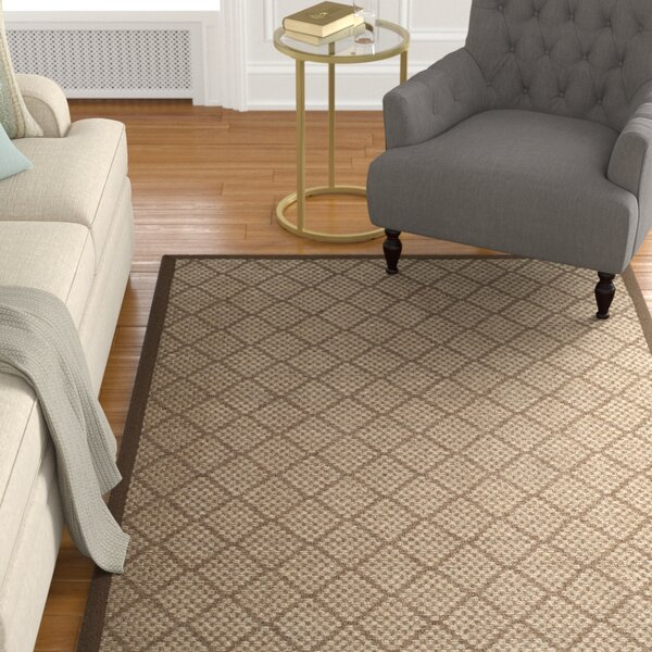 Raiden Brown Area Rug by Charlton Home